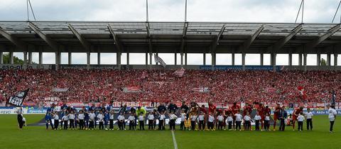 Mannschaftsaufstellung Offenbach gegen Magdeburg im Jahr 2015