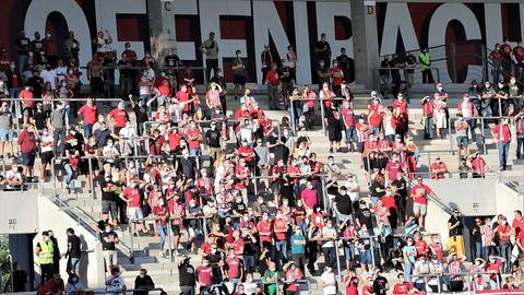OFC-Fans auf den Stehplätzen im Testspiel gegen Essen