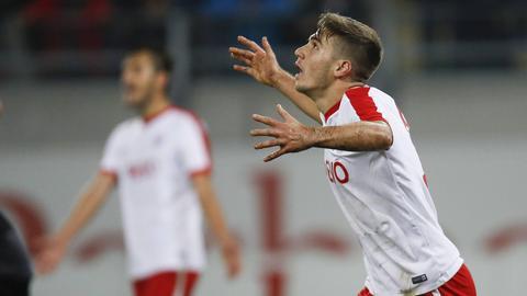 Serkan Firat freut sich über seinen Doppelpack
