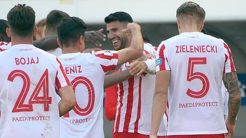 Kickers Offenbach jubelt über einen deutlichen Sieg in Balingen.