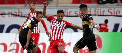 Serkan Firat im Spiel gegen den VfB Stuttgart