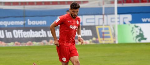 Marco Schikora von den Kickers Offenbach im Spiel gegen den SSV Ulm