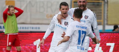 Viktor Plut hat den FSV Frankfurt mit einem Dreierpack jubeln lassen.