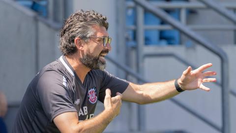 FSV-Trainer Angelo Barletta strebt einen einstelligen Tabellenplatz an.