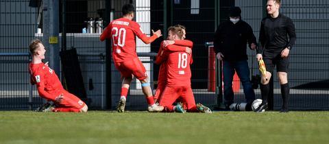 Der TSV Steinbach Haiger durfte über einen deutlichen Sieg gegen den OFC jubeln.
