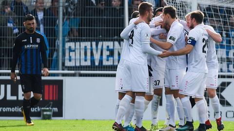 Der SC Hessen Dreieich jubelt über den nächsten Derbysieg.