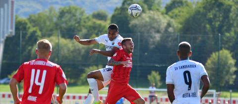 Der SV Sandhausen war am Ende eine Nummer zu groß für den TSV Steinbach Haiger.