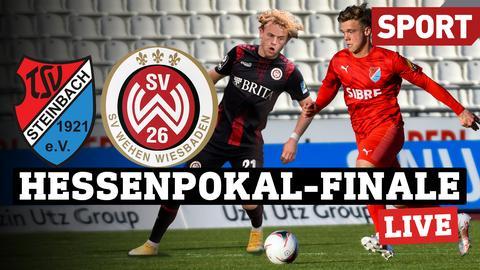 Zwei Spieler der Mannschaften im Hessenpokal-Finale