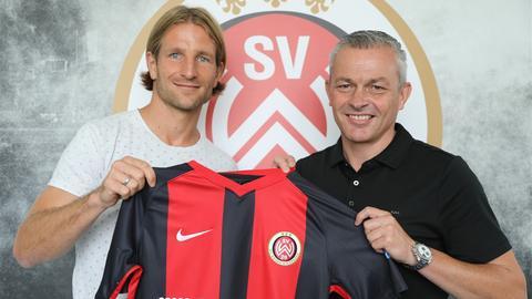 Stefan Aigner mit SVWW-Sportdirektor Christian Hock