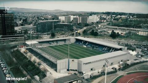 Die Wiesbadener Arena aus der Vogelperspektive