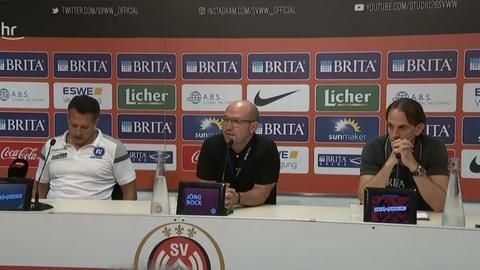 Die Pressekonferenz nach dem Spiel des SVWW gegen den KSC