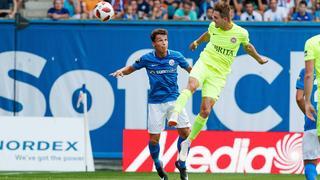 Andrist trifft zum 1:0 gegen Rostock