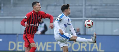Jeremias Lorch vom SV Wehen Wiesbaden