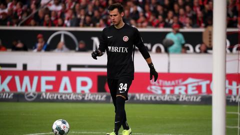 Heinz Lindner in seinem ersten Spiel für den SV Wehen Wiesbaden