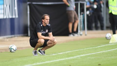 SVWW-Trainer Rüdiger Rehm an der Seitenlinie