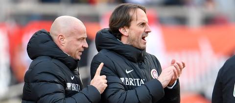 Rüdiger Rehm (rechts) und sein Co-Trainer Mike Krannich