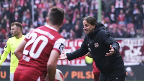 Trainer Rüdiger Rehm beim Spiel in Kaiserslautern
