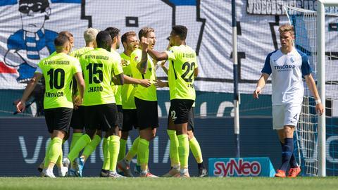 Viel Grund zur Freude beim SVWW im Spiel gegen Bochum.
