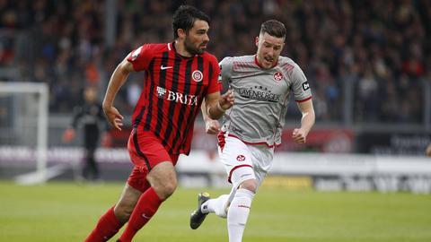 Sascha Mockenhaupt vom SV Wehen Wiesbaden im Spiel gegen Kaiserslautern