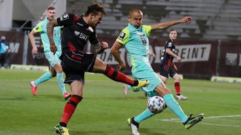 Moritz Kuhn vom SVWW im Spiel gegen Kaiserslautern