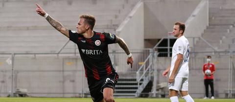 Phillip Tietz bejubelt seinen Treffer gegen Heidenheim.