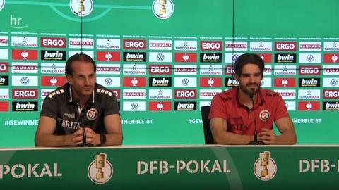Pressekonferenz beim SV Wehen Wiesbaden mit Rüdiger Rehm und Sascha Mockenhaupt