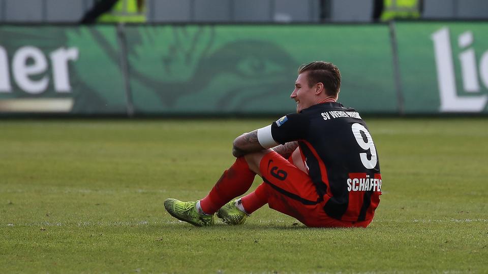 SVWW-Stürmer Manuel Schäffler nach dem Spiel gegen Kiel