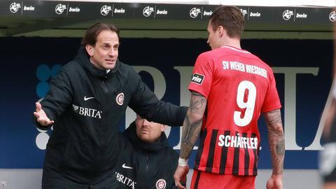 Trainer Rüdiger Rehm will seinen Toptorjäger Manuel Schäffler weiter kitzeln.