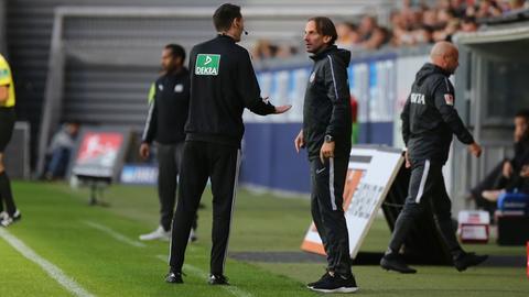 Rüdiger Rehm diskutiert häufiger mit den Schiedsrichtern.