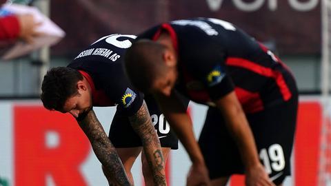 Wehen Wiesbaden nach dem 0:6 gegen Nürnberg