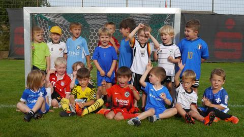 Training der Fußballzwerge in Griesheim