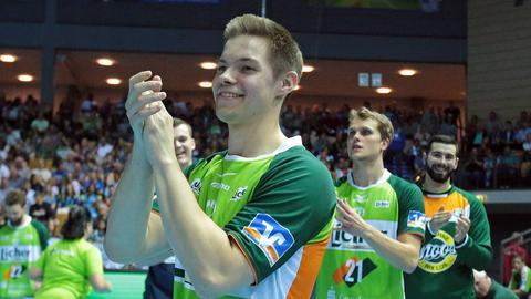 Lars Weissgerber und die HSG Wetzlar hatten am Mittwoch allen Grund zum Lachen.