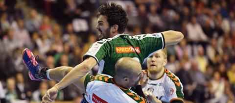 Spielszene aus der Partie Berlin gegen Wetzlar.