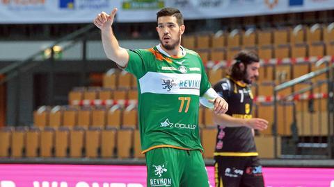 Stefan Cavor von der HSG Wetzlar im Spiel gegen Coburg