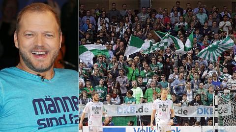 Collage: Mario Barth und Fans der HSG Wetzlar