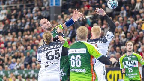 Joao Ferraz gegen den THW Kiel