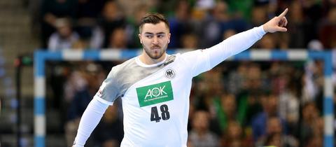 Jannik Kohlbacher von der HSG Wetzlar spielt am Samstag mit dem DHB-Team gegen Montenegro.