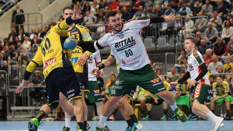 Die Enttäuschung nach der Niederlage gegen Ligaprimus Rhein-Neckar Löwen war bei Jannik Kohlbacher groß.