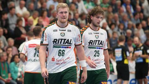 Enttäuschte Spieler der HSG Wetzlar