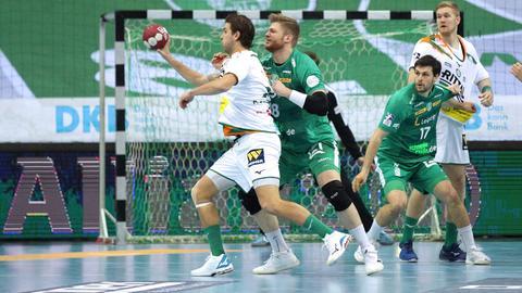 HSG Wetzlar im Spiel gegen Leipzig