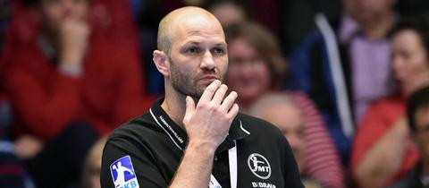 Melsungens Trainer Heiko Grimm