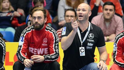 Heiko Grimm (rechts), der neue Trainer der MT Melsungen.