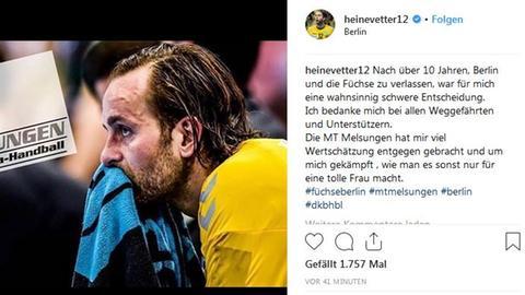 Instagram-Beitrag von Silvio Heinevetter