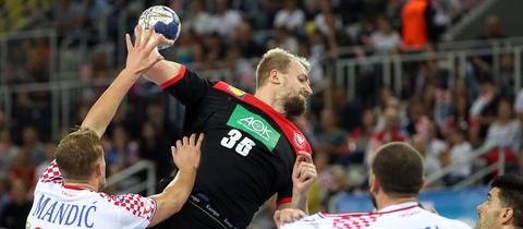 Julius Kühn beim Spiel der deutschen Nationalmannschaft