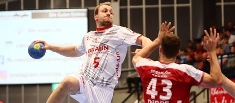 Johannes Kuehn von Melsungen beim Spiel in Ludwigshafen