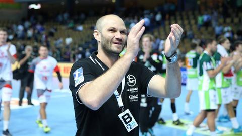 MT-Trainer Heiko Grimm freut sich über den dritten Sieg in Serie.