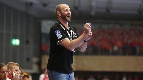 MT-Coach Heiko Grimm unterlag mit seinem Team den Rhein-Necker Löwen.