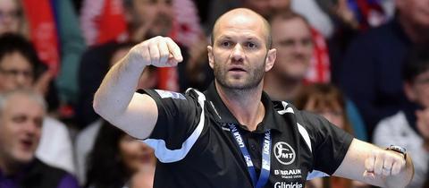 MT-Trainer Heiko Grimm kann über den Einzug in die Gruppenphase des EHF Cups jubeln.