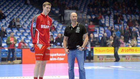 Finn Lemke und Heiko Grimm von der MT Melsungen.