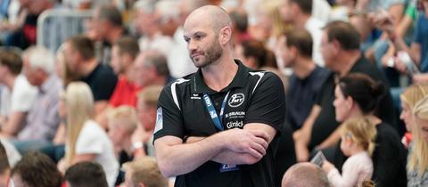 MT-Trainer Heiko Grimm unterlag mit seiner Mannschaft im Verfolgerduell.